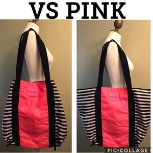 Large VS PINK Tote-Lightweight Nylon-Double Handle